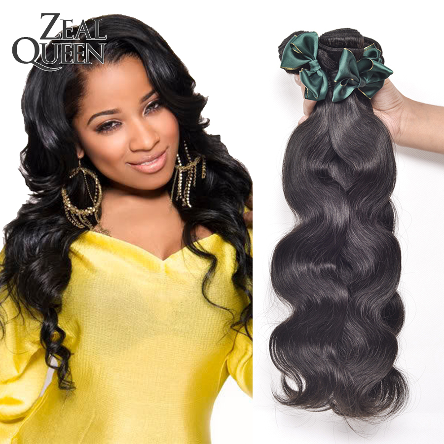 Zeal Queen Hair Products Eurasian Virgin Hair Body Wave 3 Hair Bundles Eurasian Body Wave Virgin Hair Remy Human Hair Extension