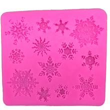 Free shipping Christmas snowflake silicone mold chocolate fondant cake decorating tools kitchen FT-026