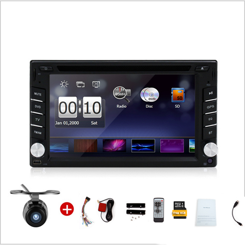2016 2din New universal Car Radio Double 2 din Car DVD Player GPS Navigation In dash Car PC Stereo video+Free Map+Free Camera(China (Mainland))