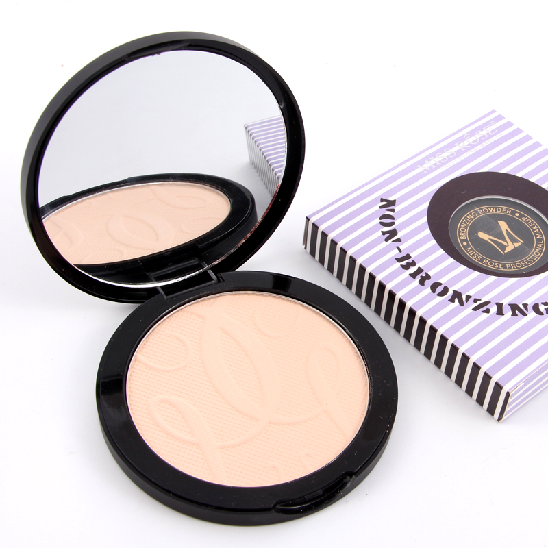 MISS ROSE Maquiagem Brand Foundation Compact Mirror Powder Makeup Contour Face Powder Pressed Powder Palette Maquillaje(China (Mainland))