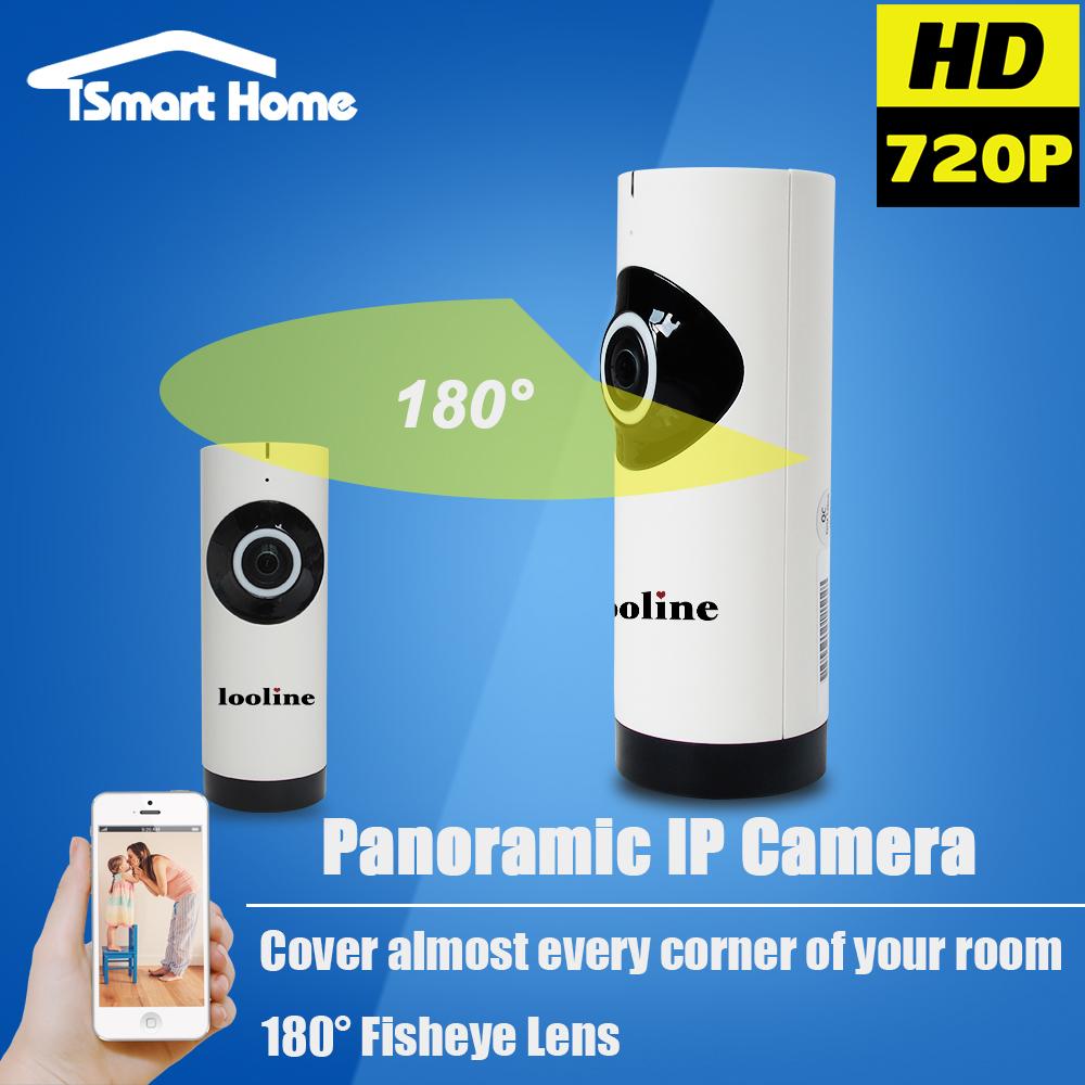 Fisheye IP Camera Wi-fi Wireless WIFI Surveillance CCTV Camera Panoramic Night Vision Indoor Secuirty SD Card Mini Onvif Cam(China (Mainland))