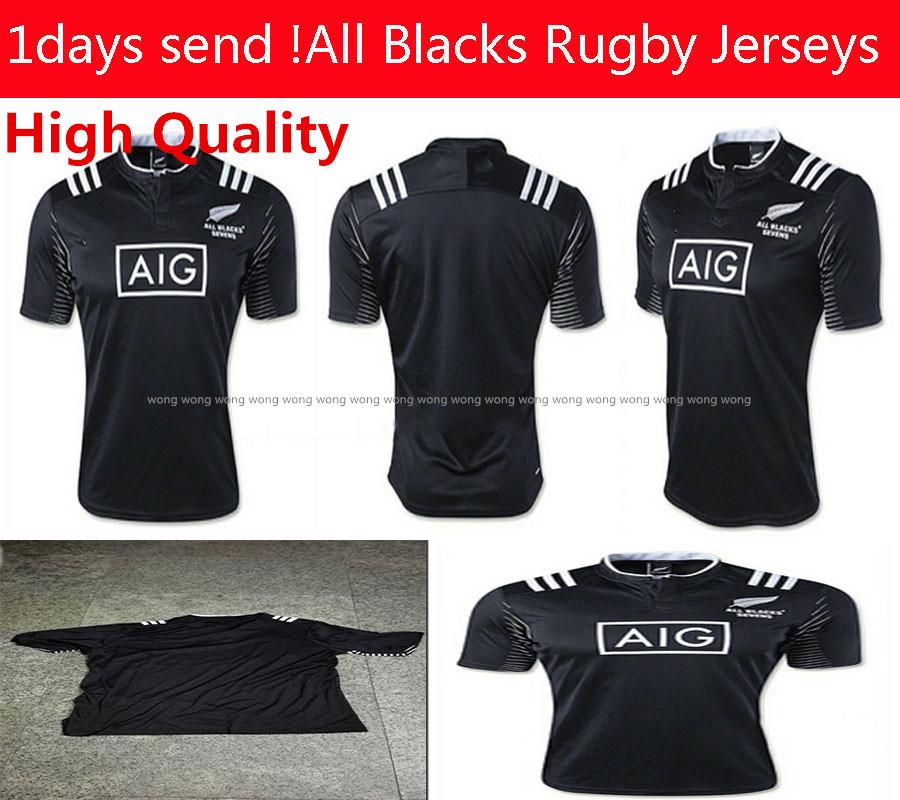 Free shipping All Blacks Rugby jerseys 15/16 Season New Zealand All Blacks Men Rugby Football Shirt All Blacks Rugby Home Jersey(China (Mainland))