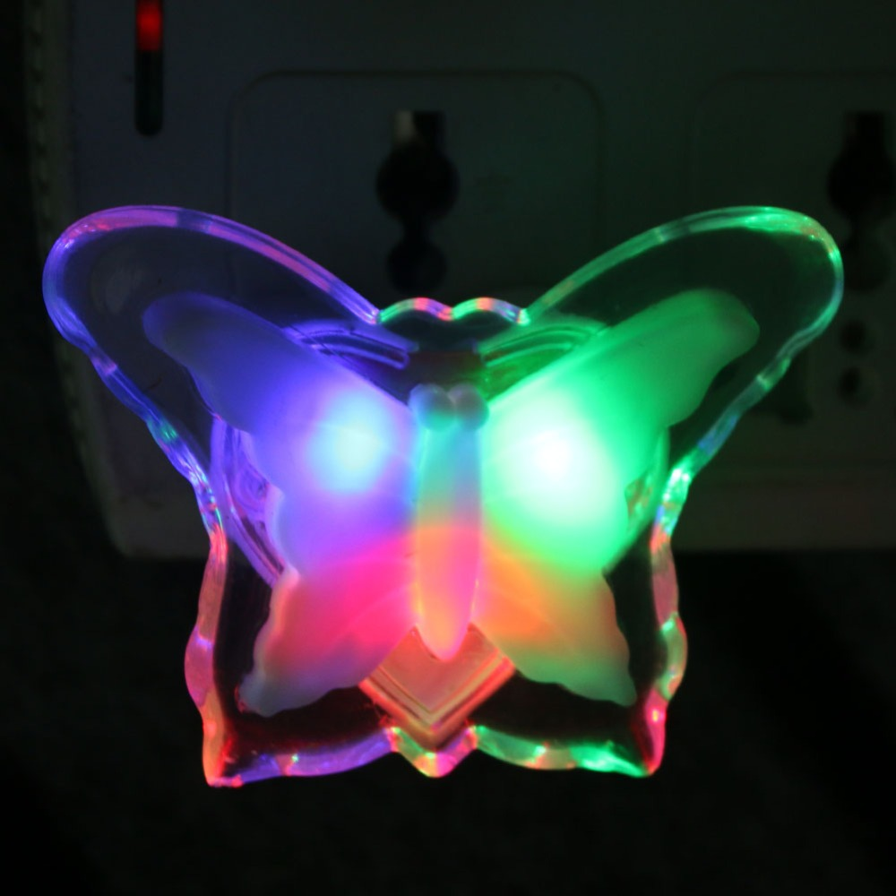 Wall Night Light Target : Romantic Butterfly Colorful LED Night Light Wall Lamp Bedroom Home Kids Children Wedding Party ...
