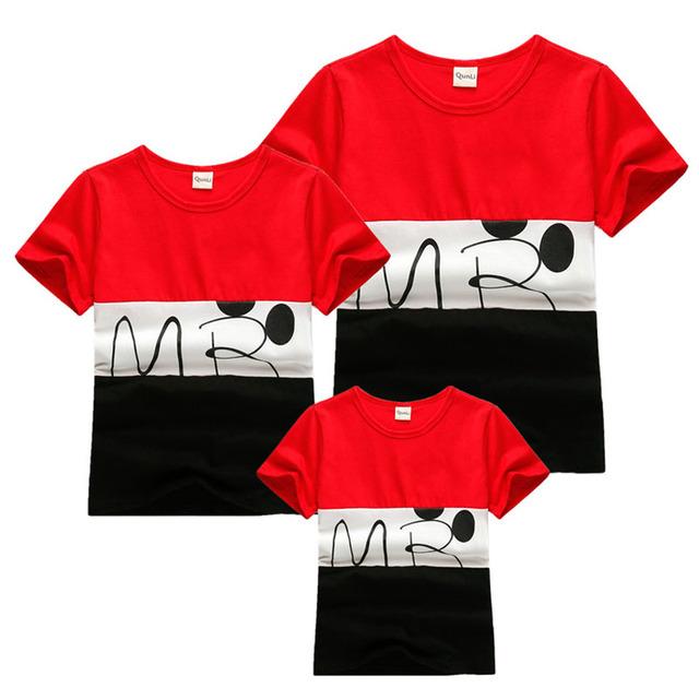 2016 новое семейство взгляд полосатые футболки 2 цветов лето семья соответствующие ...