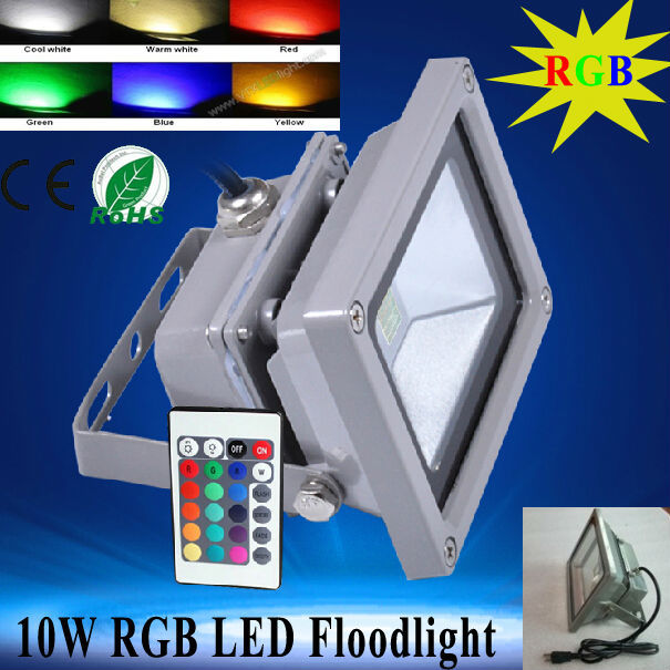 LED Flood Light 10W RGB LED Floodlight Outdoor Lighting for garden, lawn, square, street, rgb led floodlight waterproof 2pcs<br><br>Aliexpress