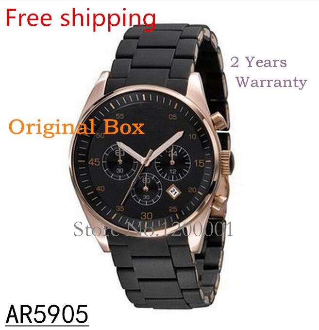 2014 new fashion brand luxury sport Mens Sports Chronograph Watch AR5905 AR5890 AR5858 AR5919 Original box Free shipping(China (Mainland))