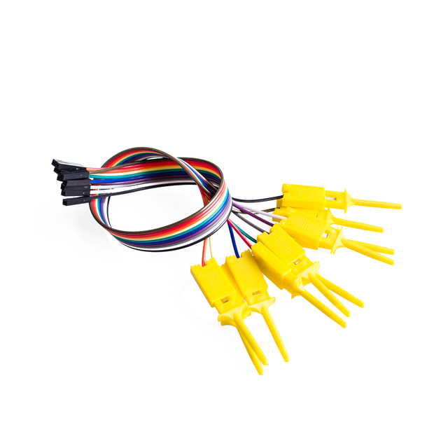 10pcs,Quality test of the quality test hook clip. Logic analyzer test folder. For USB 24M 8CH