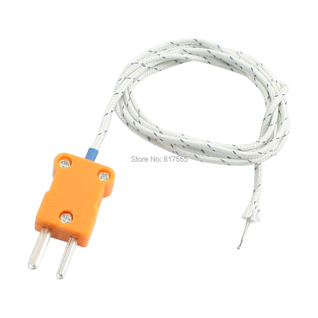1m 45mm x 15mm Probe Extension Cable K-Type Thermocouple -50-204C(China (Mainland))