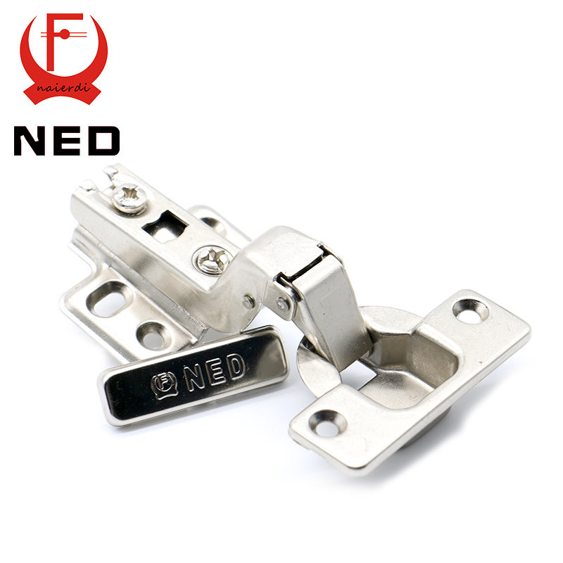 Brand NED Self Elasti Half Overlay Hinge Cupboard Cabinet Kitchen Door Hinge 35mm Cup Special Spring Hinge For Home Hardware(China (Mainland))