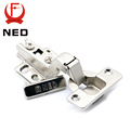 NED-A99 90 Degree 3 Inch No-Drilling Hole Cabinet Hinge Bridge Shaped Spring Frog Hinge Full Overlay Cupboard Door Hinges