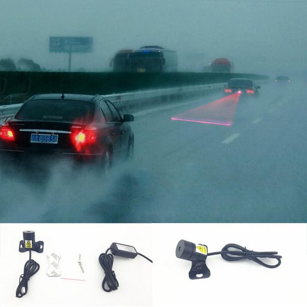 car rainproof anti fog anti collision laser warning light laser anti rear fog lamp auto laser light suitable for all models(China (Mainland))