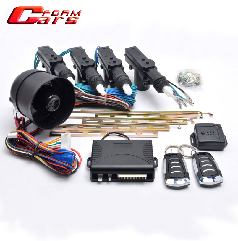1 master 3 CAR ALARM + CENTRAL LOCK SYSTEM 12V Universal 4 Actuator Entry System For chevrolet cruze/nissan etc()