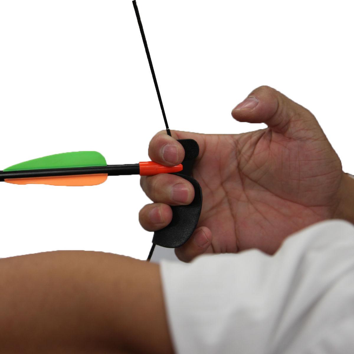 Children Kids Archery Training Hunting Bow Fnger Tab arm Protector Arrow Sucker