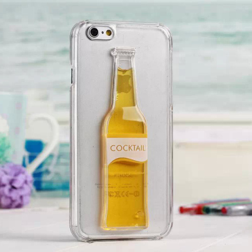 2015 Fashion Beer Bright Transparent Yellow Whiskey Hard Plastic Case Cover For iPhone 6 4.7 Free Shipping 03(China (Mainland))