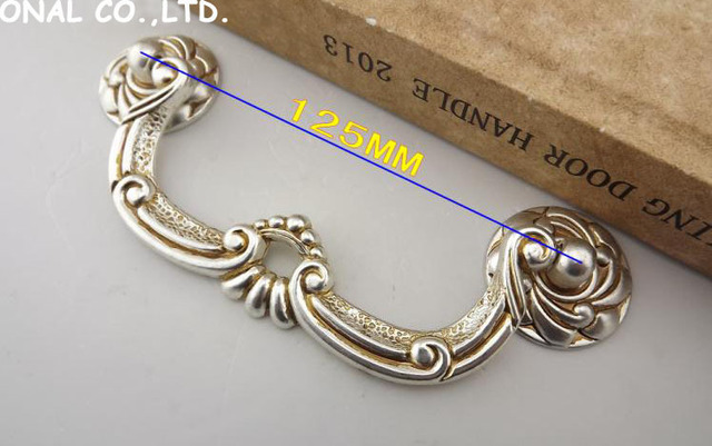 L125mm Free shipping zinc alloy Cupboard Drawer Pull Handle for Wardrobe handle