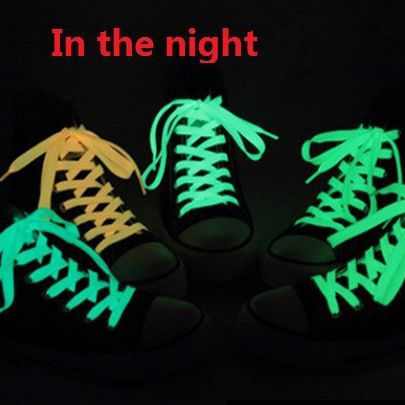 100CM 120CM 80CM Shoelaces Glow in the Dark Kids Children Party Gift Neon Colors Night Teens Canvas Lace Sport Shoes Sneaker LED(China (Mainland))