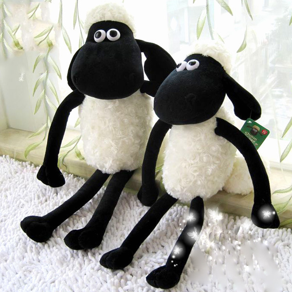 55cm Shaun the Sheep plush toy, sheep stuffed animal doll, sheep lamb plush toy brithday holiday gift lovely soft toy(China (Mainland))
