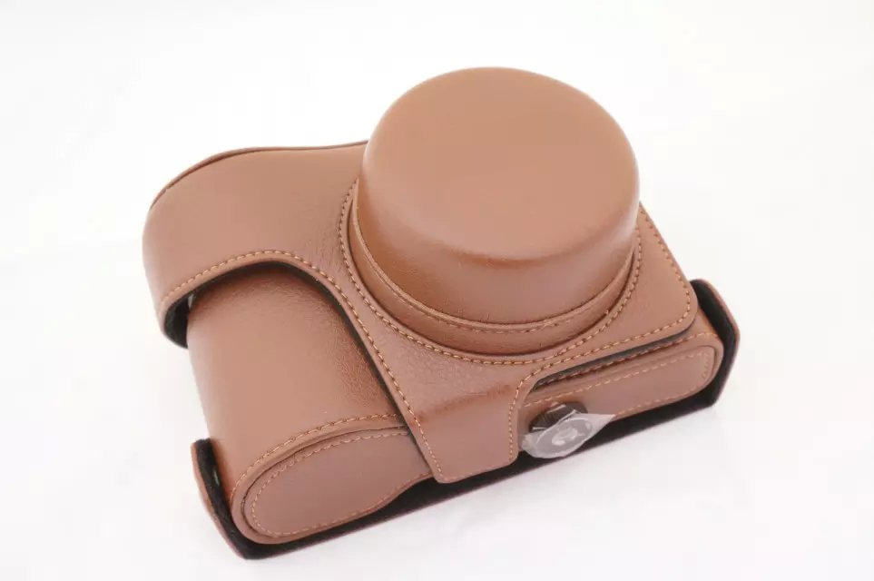 For Panasonic Lumix GX7 GX 7 PU Leather Case Retro Vintage Leather Digital Camera Bag Brown in Original Box Free Shipping(China (Mainland))