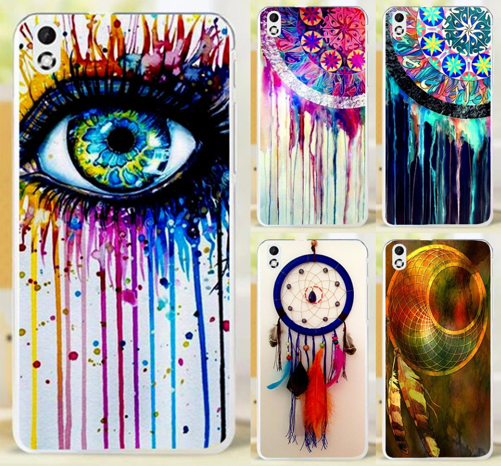 Colorful Multi Styles Dream Catcher Telephone Booth Letters Hard Phone Case Cover For HTC Desire 816 800 D816W Cases Skin Shell(China (Mainland))