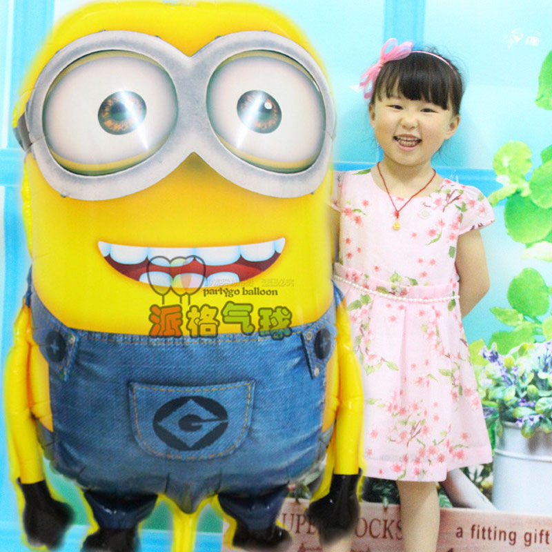 1pcs/lot 92*65cm Despicable Me minions balloons big large helium mylar ballons for Christmas party baby party foil ballon baloes(China (Mainland))