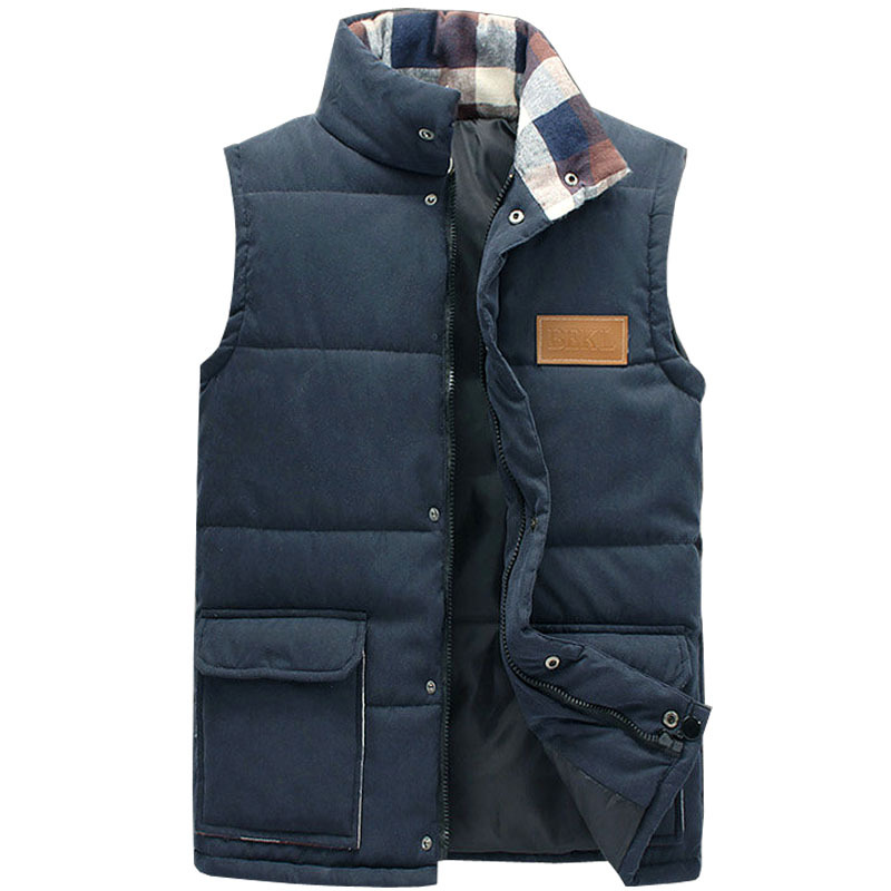 New Style Autumn Winter Men Vest Stand Collar Solid Casual Men s Vest Candy Color Waistcoat