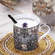 New listing creative characteristics of retro Gothic ceramic tea cup cup breakfast coffee cup