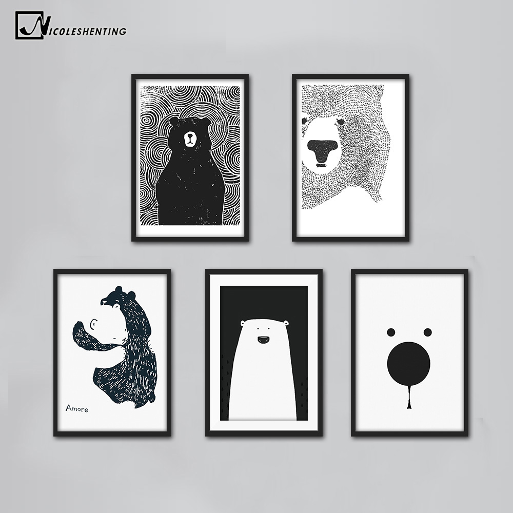 black bear painting reviews online shopping black bear painting reviews on. Black Bedroom Furniture Sets. Home Design Ideas