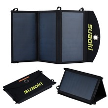 Suaoki Portable 20W Folding Foldable Solar Panel Charger Solar Mobile Power Bank for Phone Battery Charger Waterproof(China (Mainland))