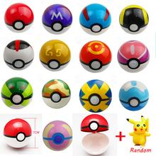 13 Styles Pokeball PVC Action Anime Figures Pokemon Go balls PokeBall Fairy Ball Super Ball Master Ball Kids Toys Gift WJ118