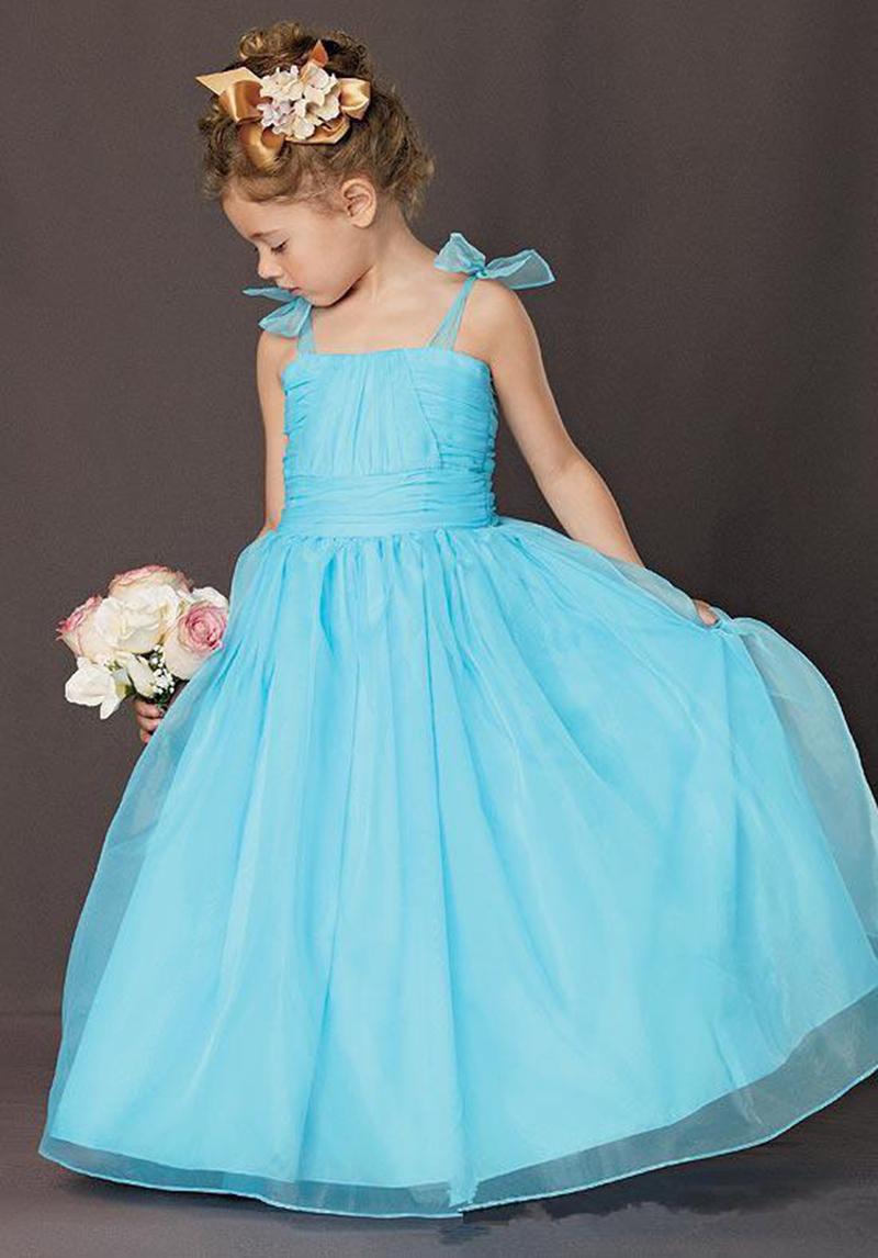 Cheap Blue Flower Girl Dresses Beatific Bride