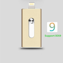 For iPhone 6, 6 Plus 5 5S ipad Metal Pen drive HD memory stick Dual purpose mobile Otg Micro USB FLASH Drive 32GB 64GB PENDRIVE