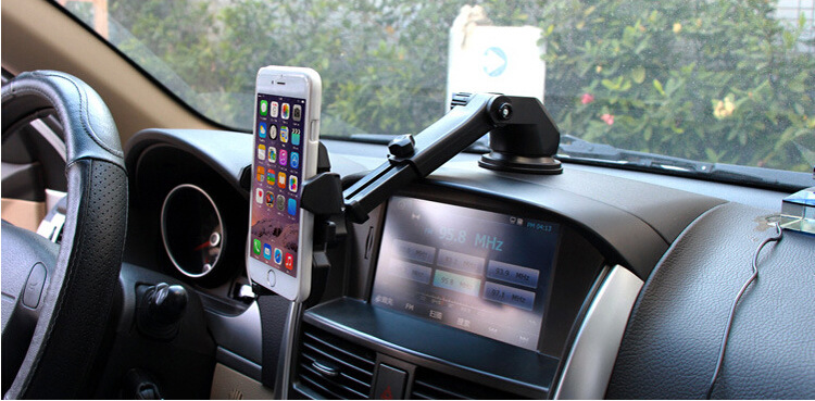 Universal Multi-functional Automatic Car Lock Silicone Sucker Lazy Phone Holder Stand for 5CM-8.5CM Phone GPS(China (Mainland))