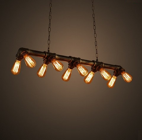 Edison Loft Style Vintage Pendant Light Fixtures Industrial Metal Water Pipe Hanging Lamp Luminaire Lamparas Colgantes(China (Mainland))