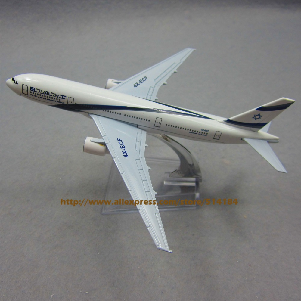 16cm Airplane Plane Model EL AL ISRAEL AIRLINES Boeing B777 200 Airline Aircraft Metal Model Diecasts Souvenir Toy Vehicles Gift(China (Mainland))