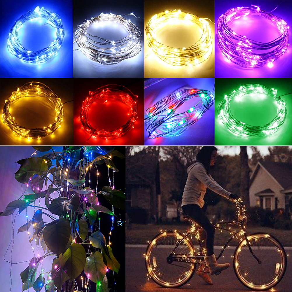 TSLEEN DC 12V Starry Fairy Lights With Micro 50/100 LEDs 5/10m Silver