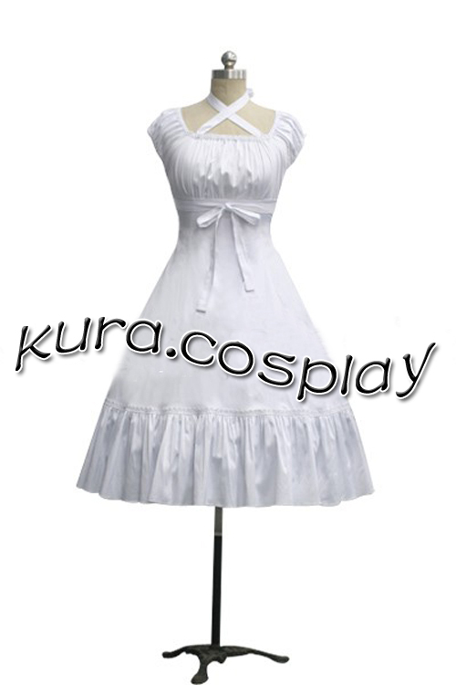 Classic Lolita Criss-Cross Dress Summer party dress girl Cosplay Halloween A sleeveless dress(China (Mainland))