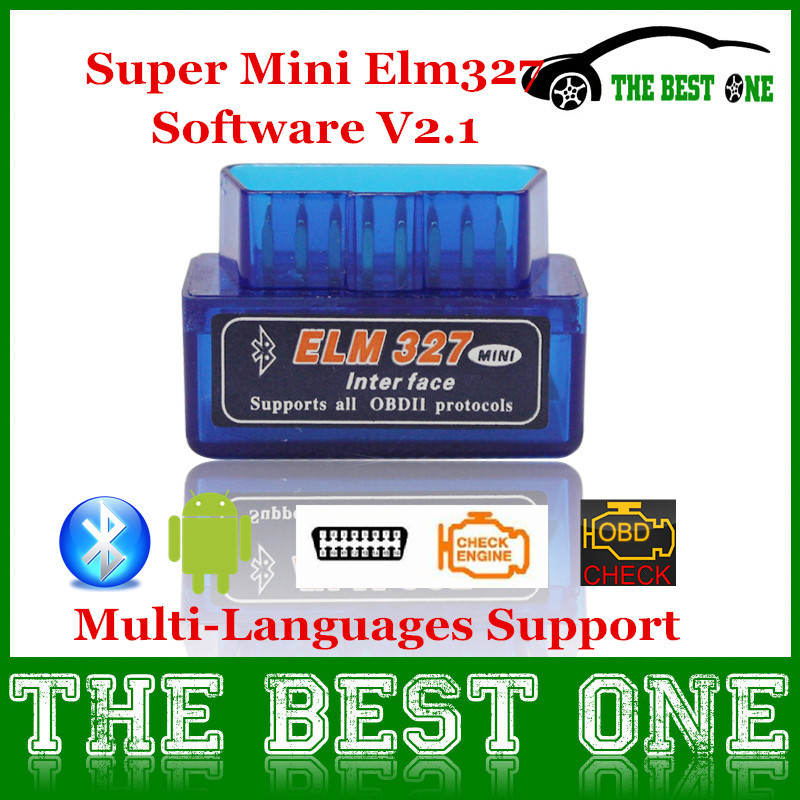 New Released Multi-Languages Super Mini Elm327 Bluetooth OBDII / OBD2 Scanner V2.1 Elm 327 Auto Diagnostic Tool For Android(China (Mainland))