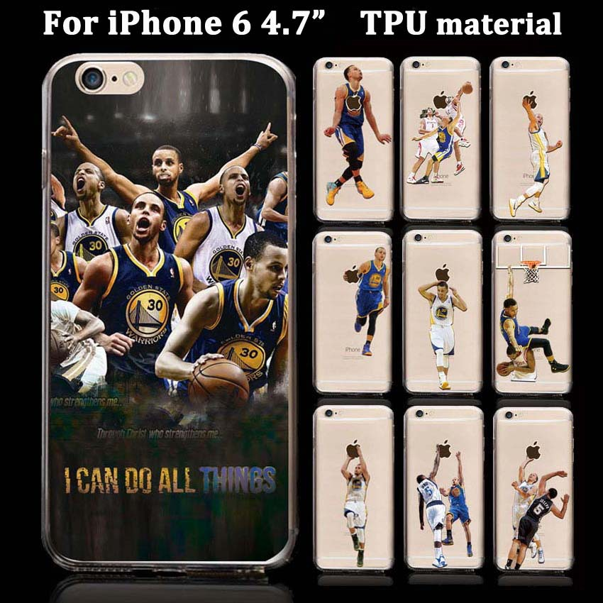 "2015 New Basketball player star Phone case for apple iPhone 6 cell phone 4.7"" Soft TPU Slim Phone back cover Coque Fundas Capa(China (Mainland))"
