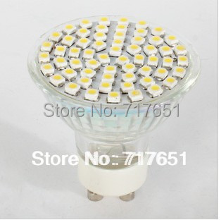 3.5W  E27 LED 3528 60 SMD Pure/ Warm White LED High Power Spot Light 10pcs /lot