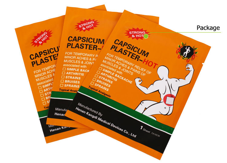 10 piece/lot Hot Capsicum Plaster Pain Relief Porous Medical Plaster for Body Massager Health Care Products(China (Mainland))