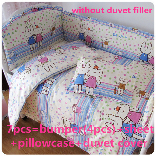 Discount! 6/7pcs baby cot bedding kit 100% cotton crib set 100% cotton baby bed around,Duvet Cover,120*60/120*70cm<br><br>Aliexpress