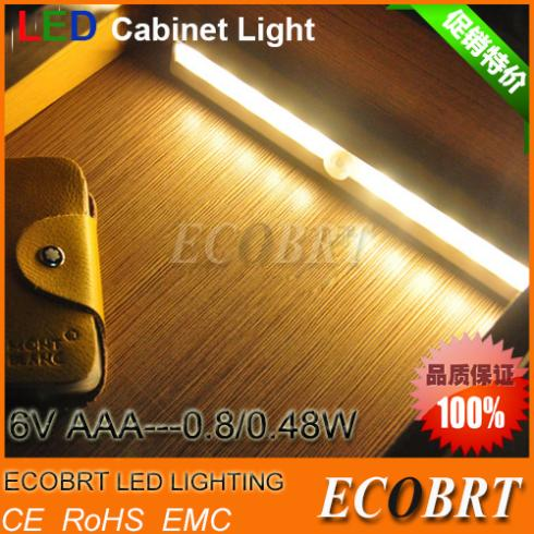 ECOBRT-Free Shipping SMD3528 LED IR Infrared Motion Detector Sensor Closet Cabinet Light Lamp Wireless Using AAA battery lights(China (Mainland))