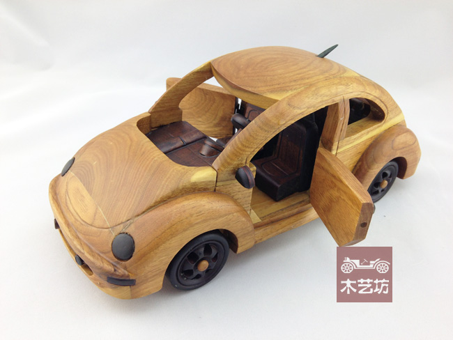 Quality ash wood log the door of the beetle car model vintage(China (Mainland))