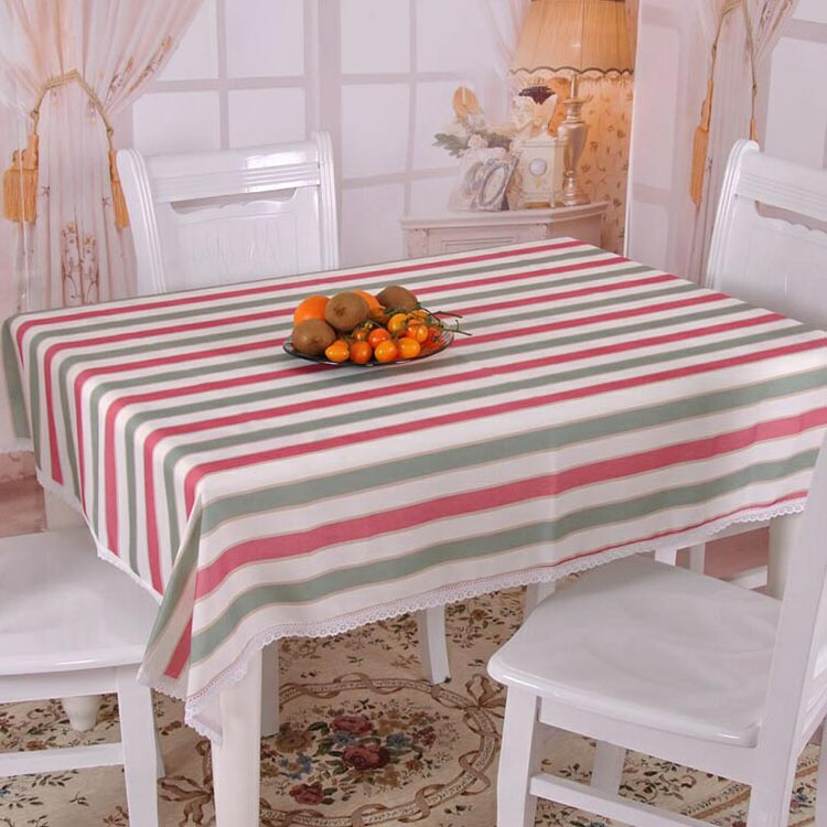 Rustic stripe cloth brief modern tablecloth dining table cloth fabric side table big round table cloth fresh customize(China (Mainland))