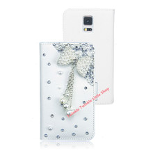 3D Bling Diamond Butterfly Phone Leather Rhinestone Case For Samsung Galaxy S5 S4 i9500 Note2 Note3(China (Mainland))