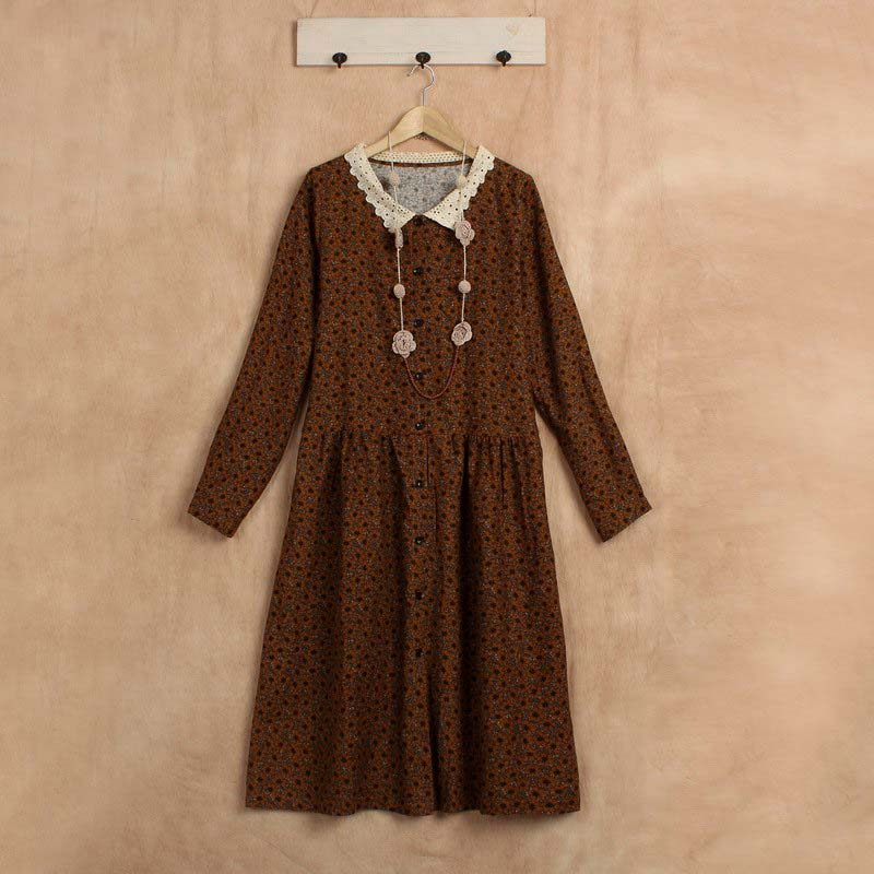 fall casual boho clothing linen jurk roupa feminina mori girl kleider hippie knitted vestido floral festa sequin dress