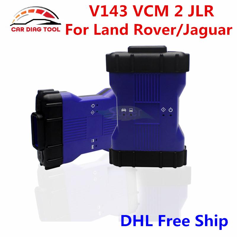 Newest V143 VCM 2 JLR VCM II Blue Color For Land Rover/Jaguar VCM2 IDS OBDII Auto Diagnostic Tool VCM II With Multi Function(China (Mainland))