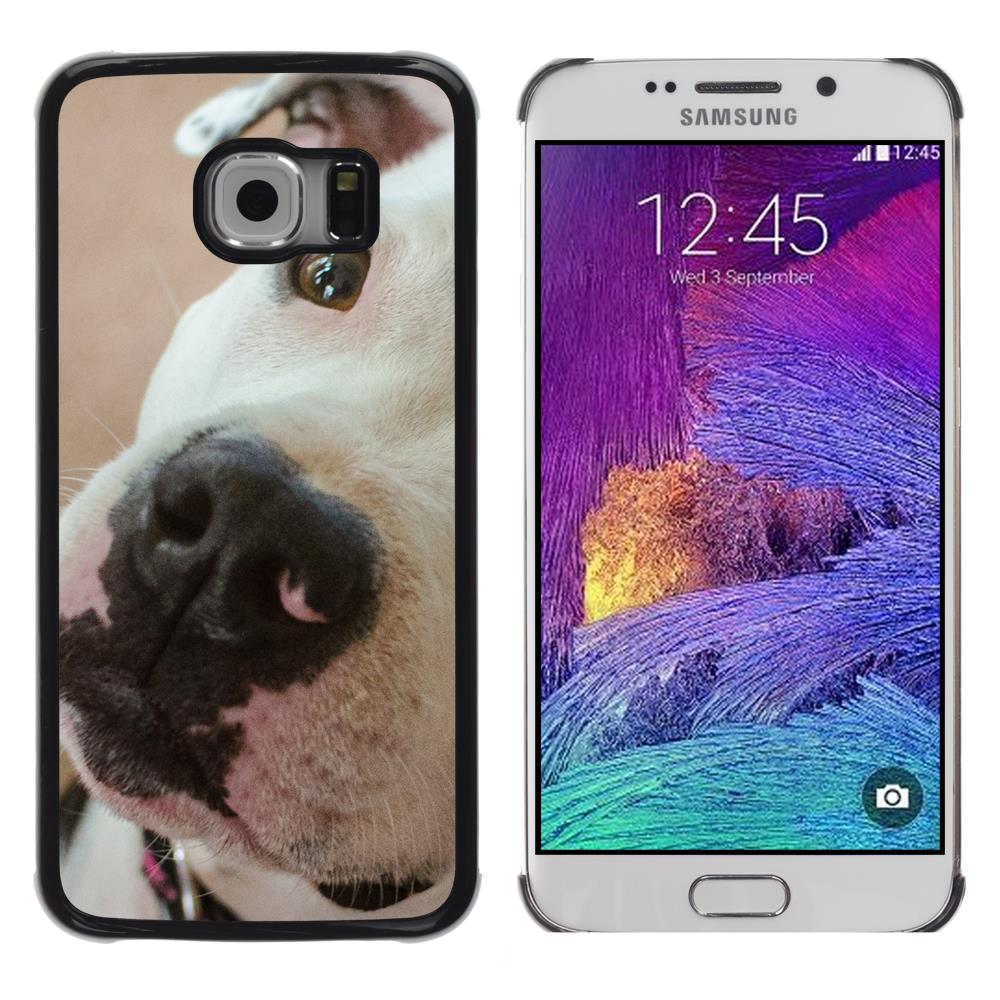 Snap On Hard PC Back Shell Case For Samsung Galaxy S6 EDGE SM-G925-American Pit Bull Terrier Dog Breed(S6EDGE-3005778)(China (Mainland))