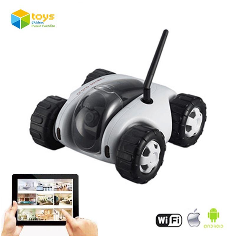 App Controlled Wireless Wifi Controlled Spy Tank Cloud Rover Remote Control Robot with Camera RC Monitoring Car Toys iOS Android(China (Mainland))