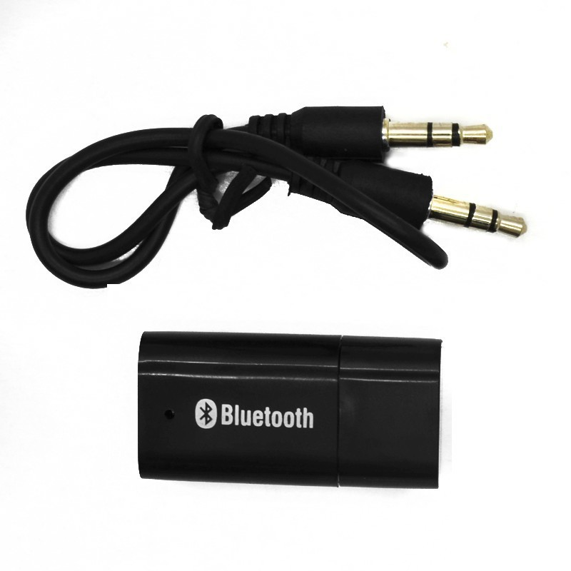 100pcs/lot USB Bluetooth dongle Stereo Audio Music Receiver Adapter for Apple iPhone 4 4S 5 iPad iPod Andriod PC Speaker